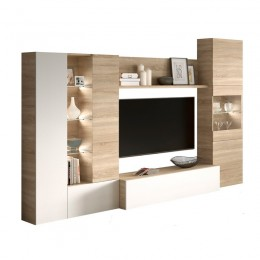Mueble de Salon ESSENTIAL Roble Canadian PORTES GRATIS !!!