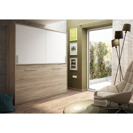 Cama Abatible Horizontal en Cambrian/Soul blanco